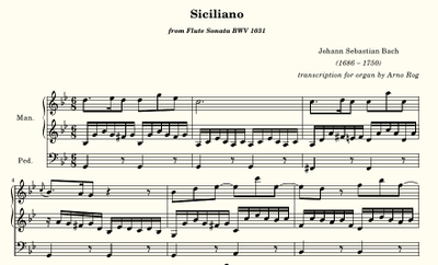 Bach, Siciliano from BWV 1031