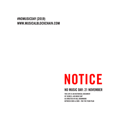 No Music Day 2019 by Musical Blockchain - first true #AI #Composer, #psychology-based